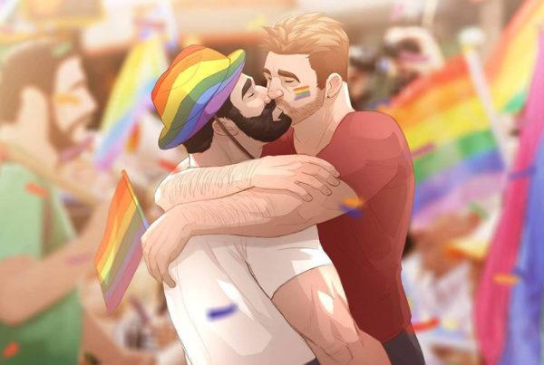 Mira este arte que se inspira en las relaciones entre hombres gays