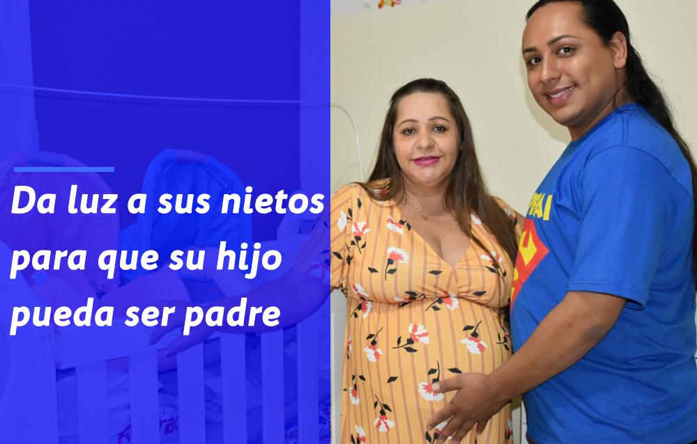 Mujer queda embarazada para ayudar a su hijo gay a ser padre